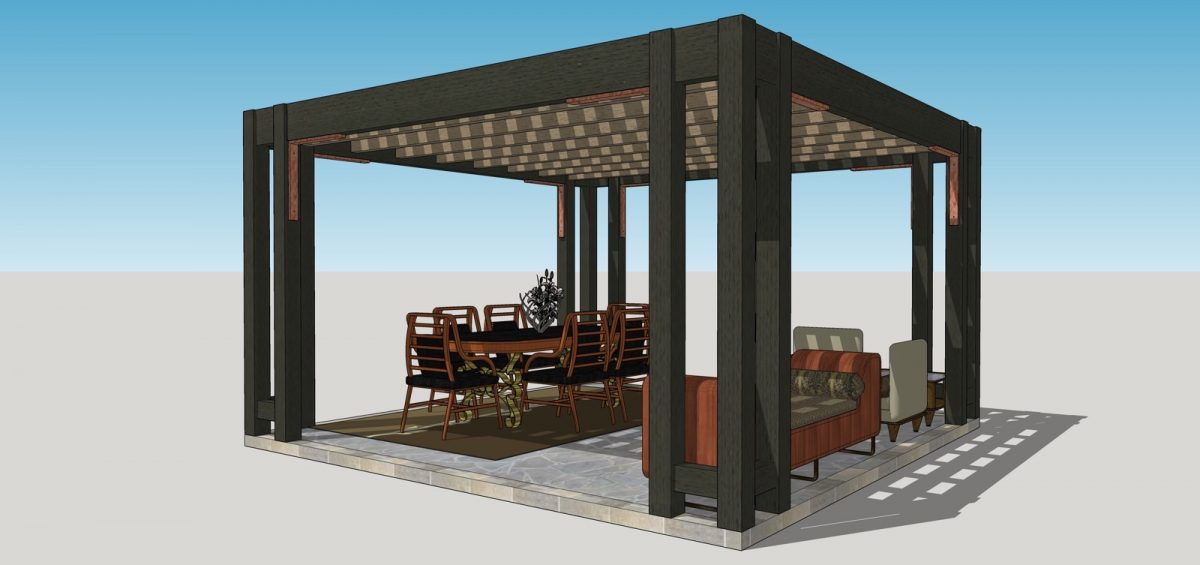 contemporary pergola kit