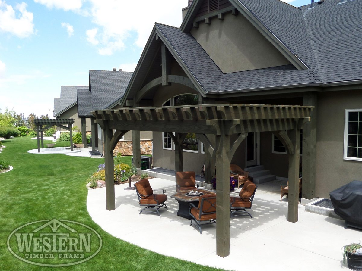 fire pit shade pergola patio