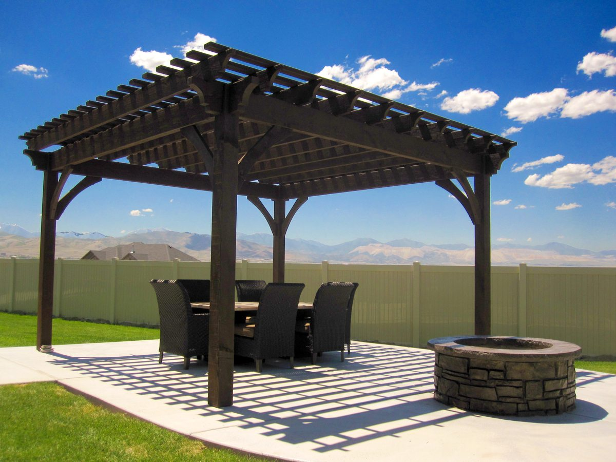 patio with fire pit and pergola. Patio Fire Pit Pergola Shade With And S
