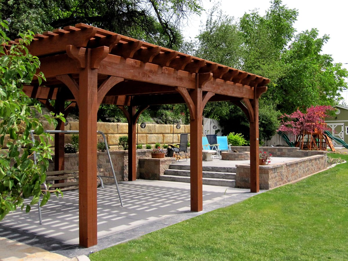 12 rich sequoia landscape ideas arbors awnings bridge decks pergolas western timber frame. Black Bedroom Furniture Sets. Home Design Ideas
