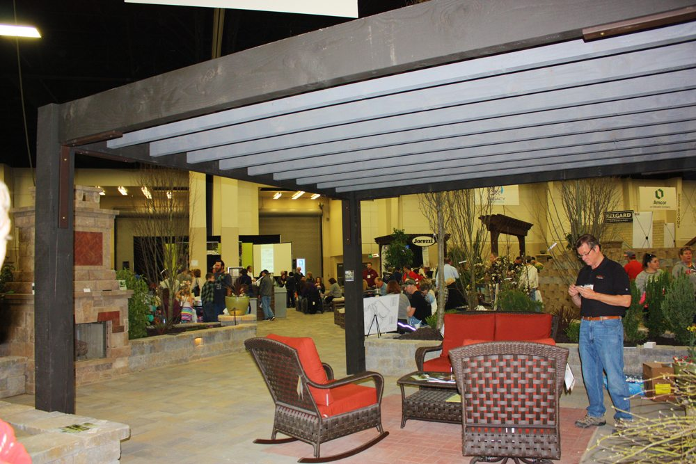 conventional style pergola at garden show
