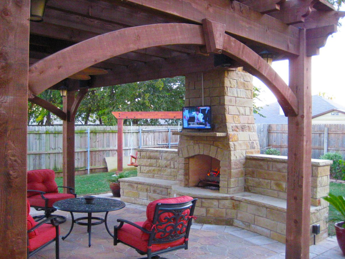 13 Fireplaces & DIY Outdoor Shade Structures | Western ...