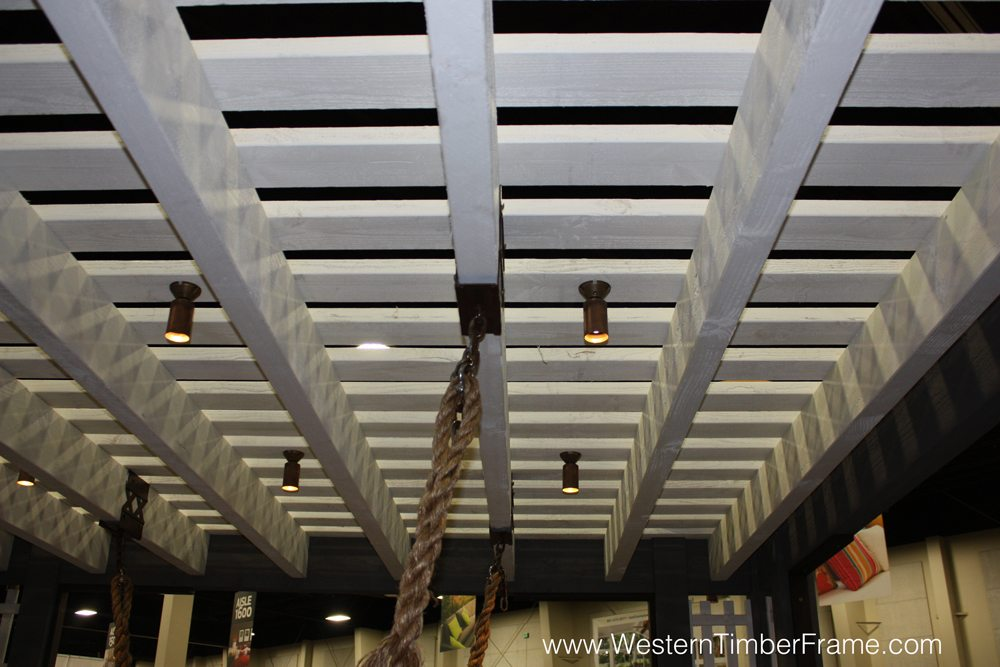 pergola outdoor lighting with hanging ropes