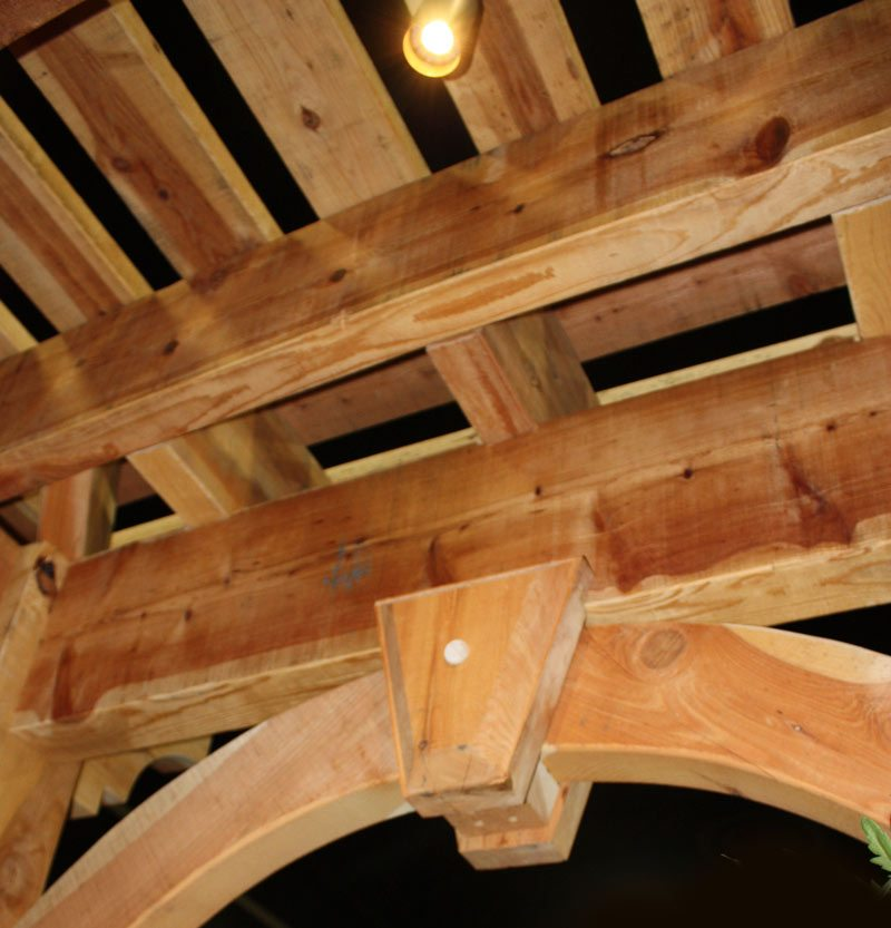 timber frame dovetail joint