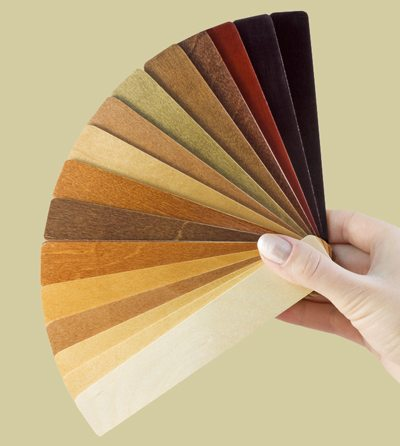 wood samples stain colors