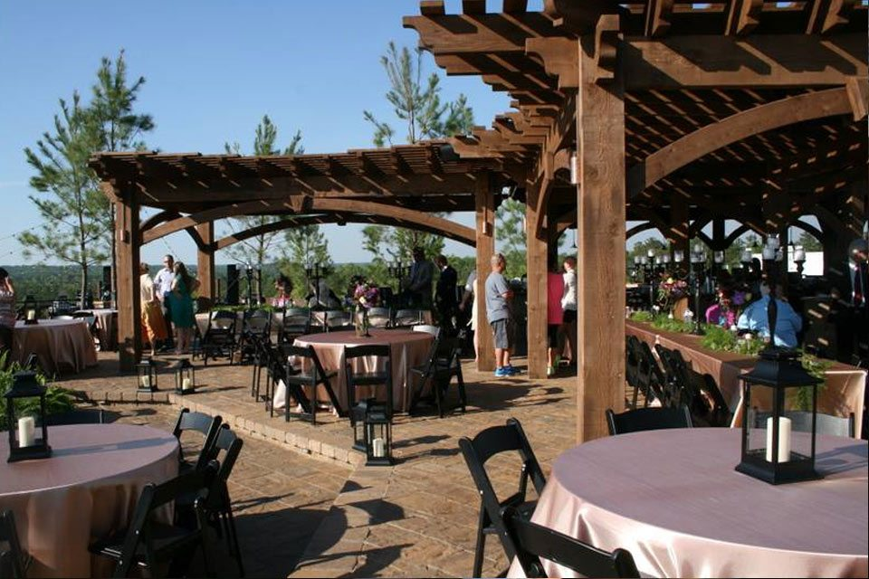 outdoor wedding shade pergola