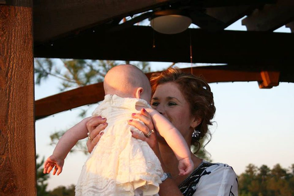 grandmother baby pergola shade