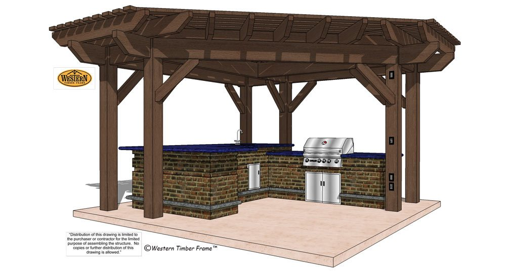 Pergola plan with triangle roof
