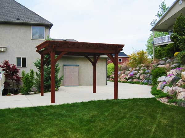 utility storage pergola patio