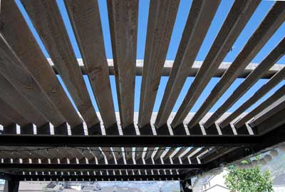 louvered roof pergola timber frame