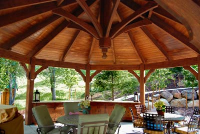 wood gazebo pergola shade