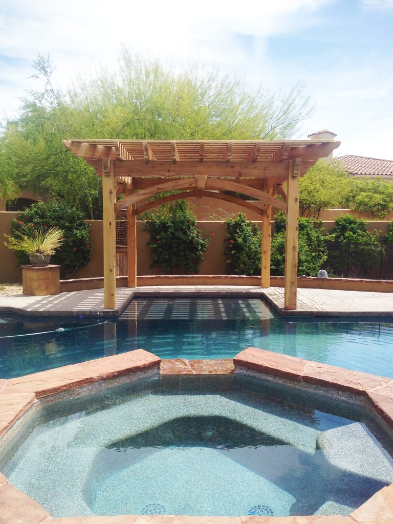 Shaded Swimming Pool Timber Frame Diy Pergola Kit