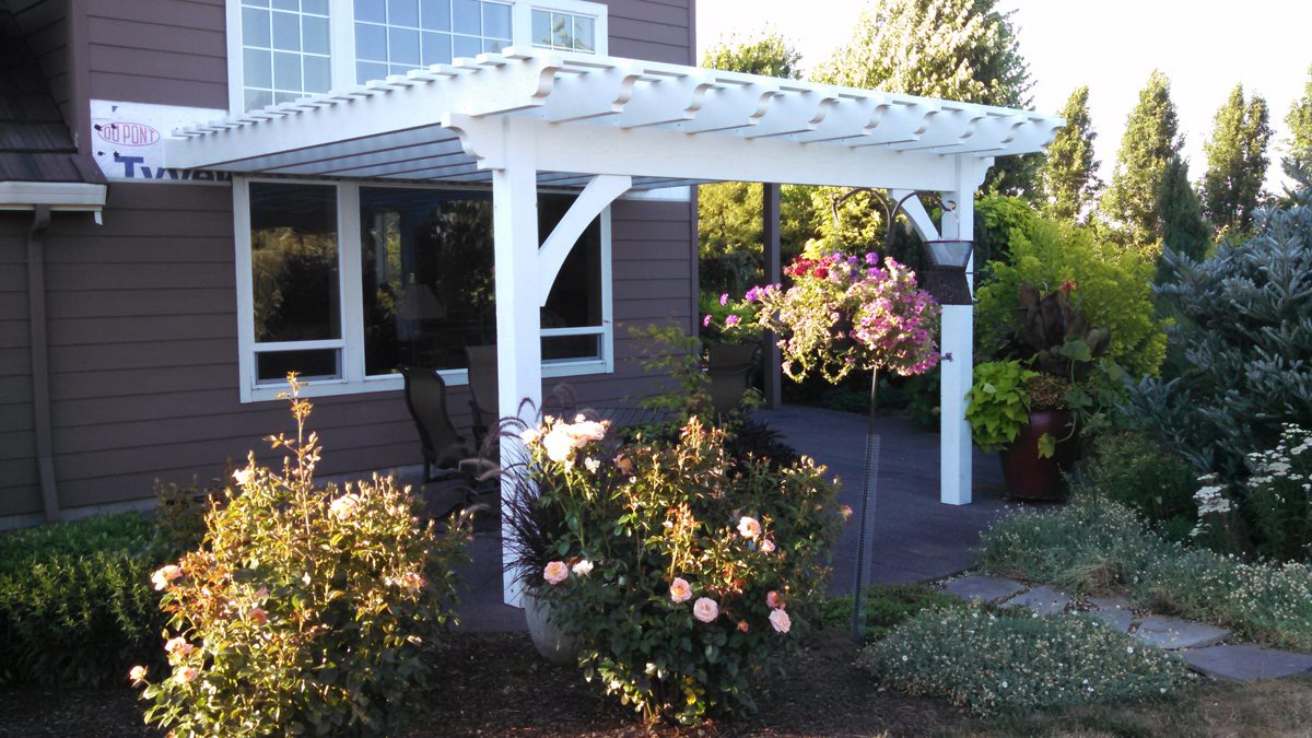 diy attached pergola kit - Easy DIY Attached Timber Frame Pergola Kit Installed In 4 1/2 Hours