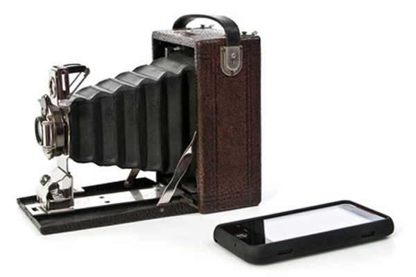 Antique camera cell phone