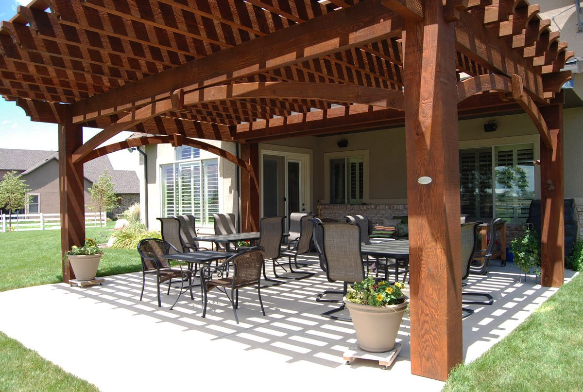 cantilever roof timber frame pergola kit