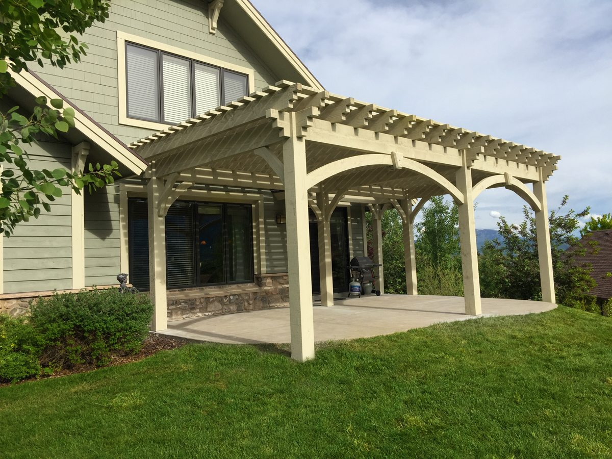 patio shade pergola kit