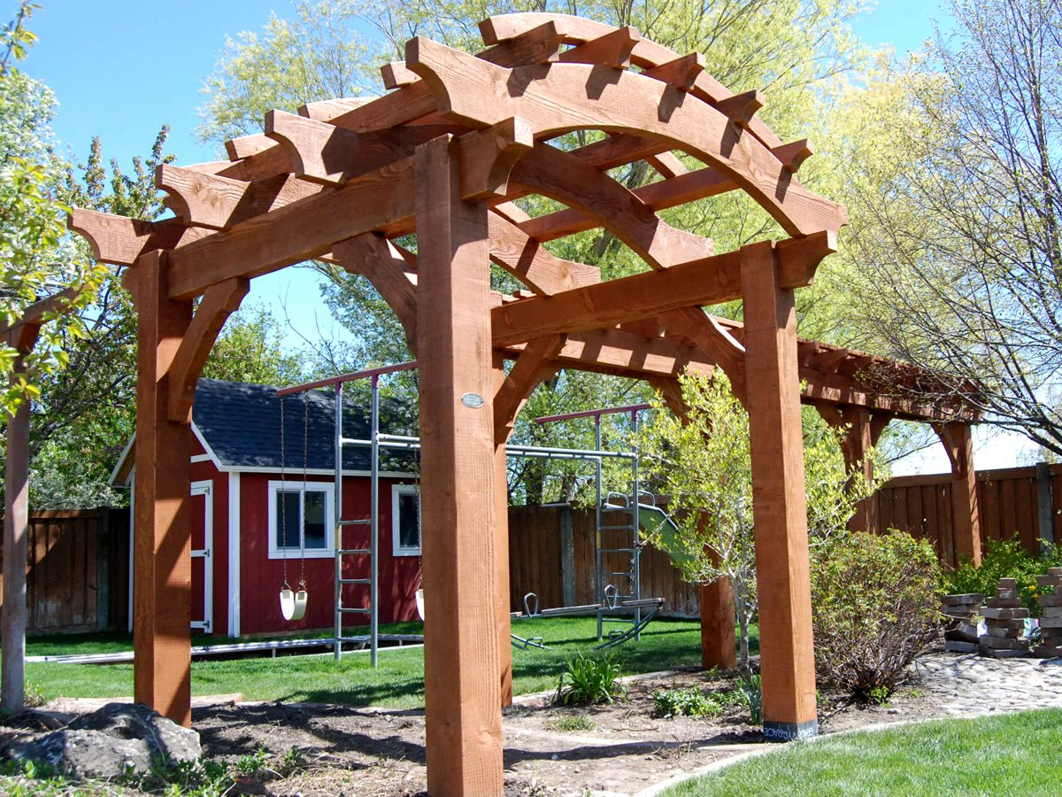 arched beams arbor