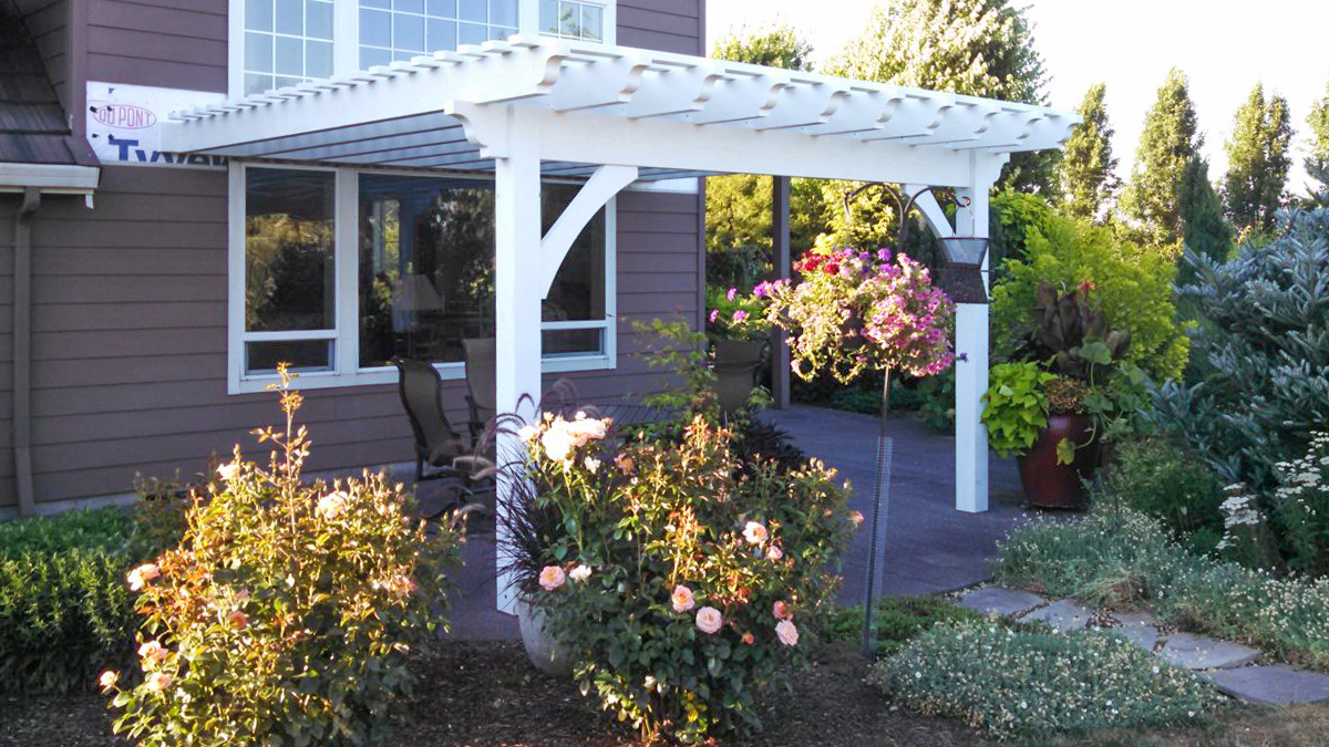 attached pergola kit