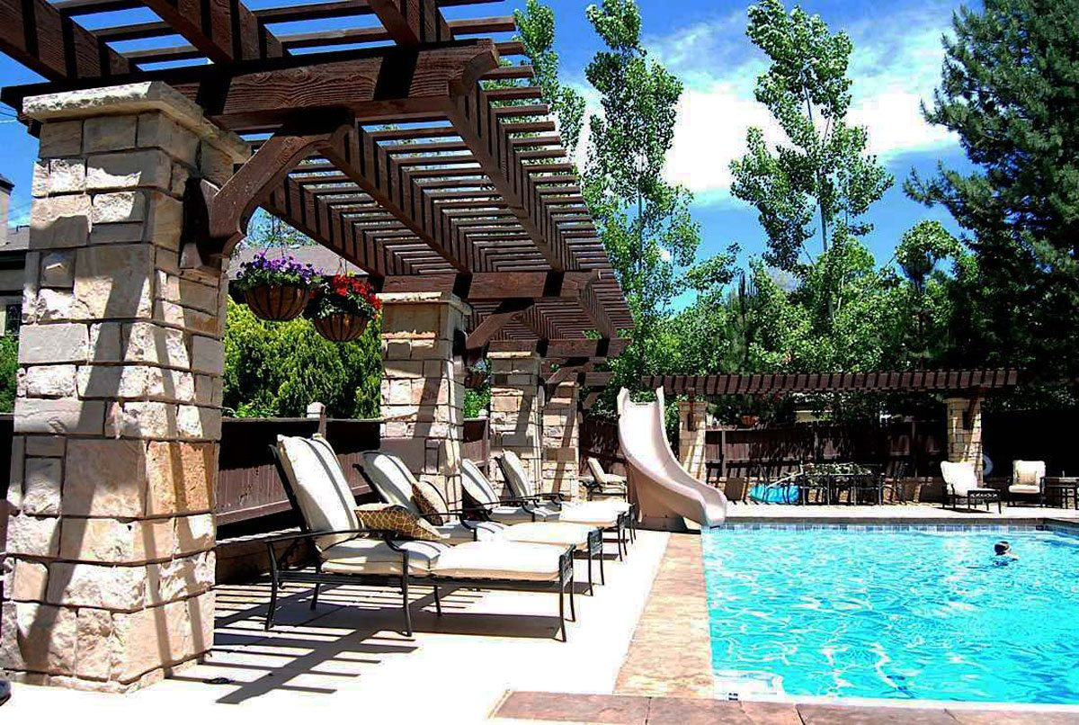 arbor shade for pool