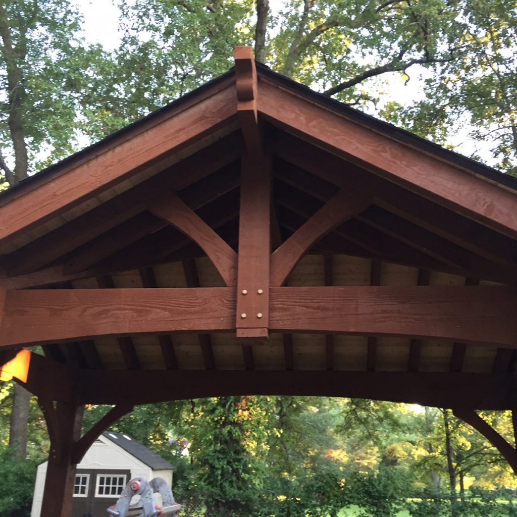 triple gable finished pavilion