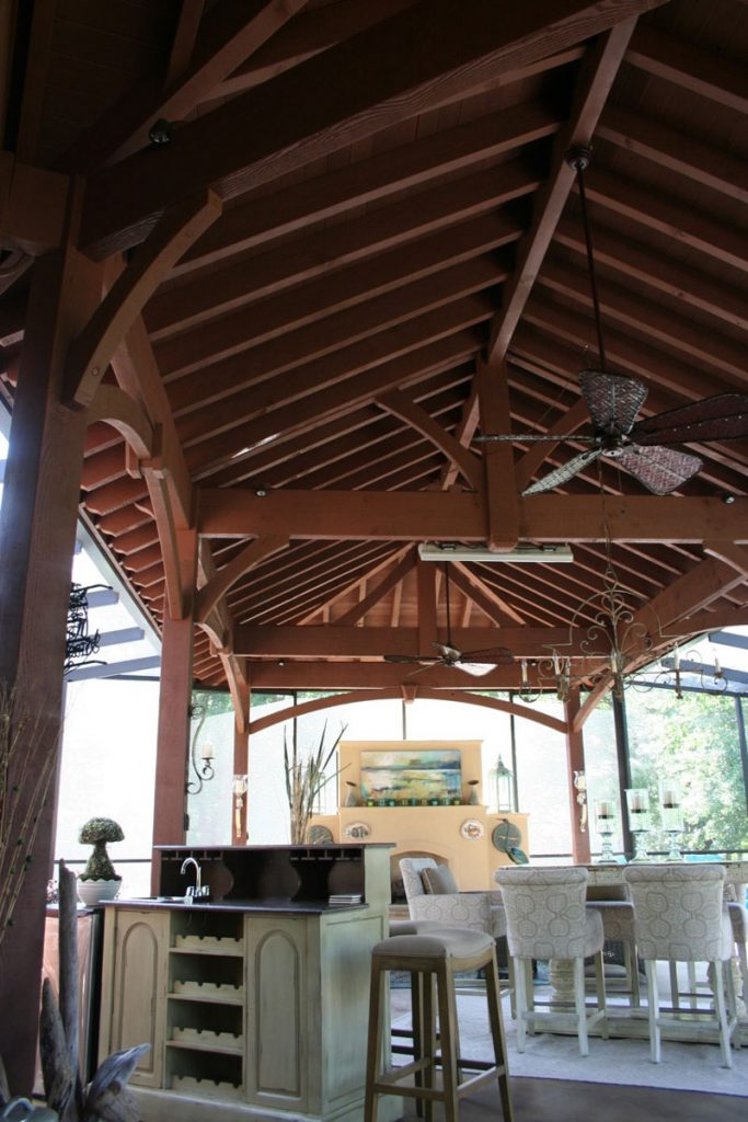 pavilion kit with hipped roof