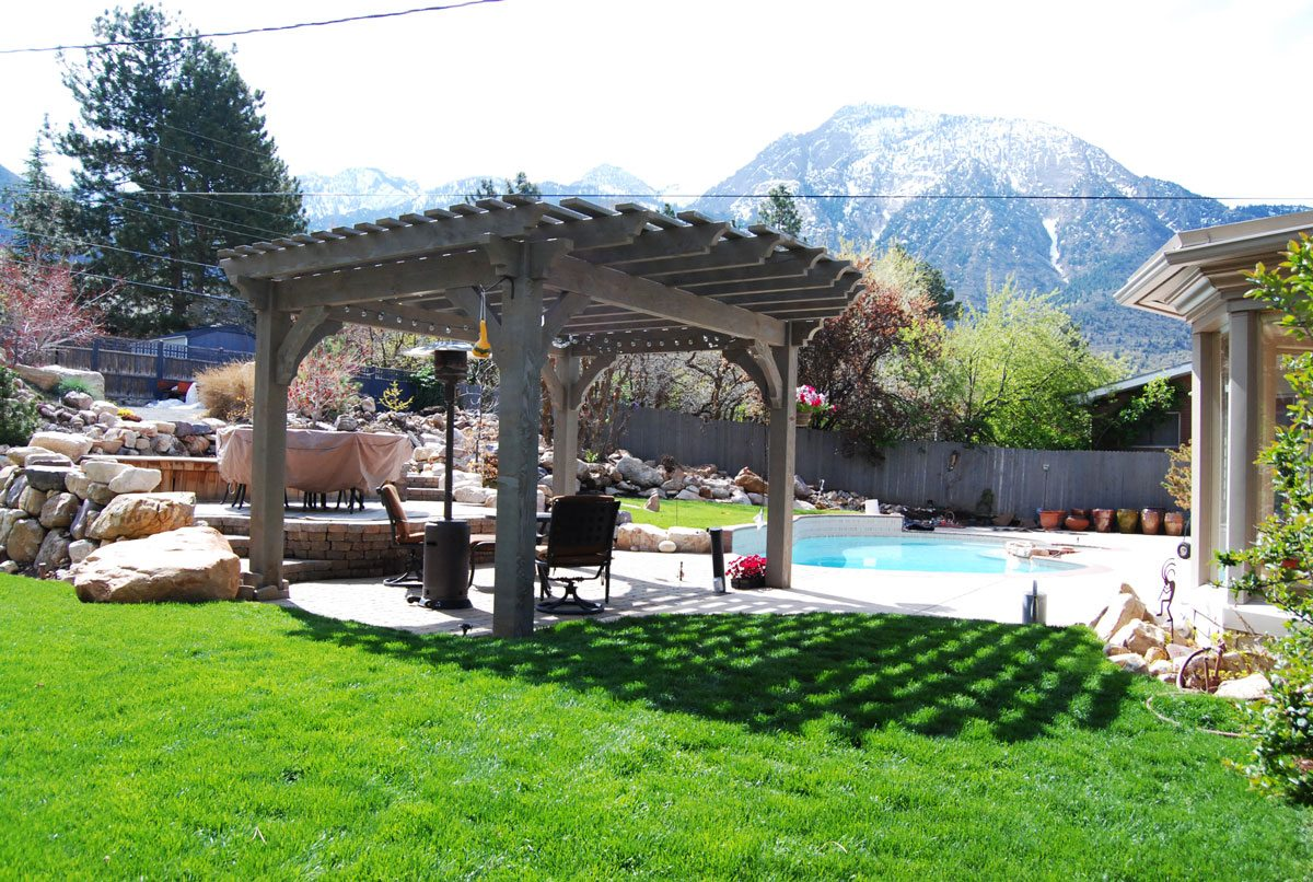 timber frame pergola shade