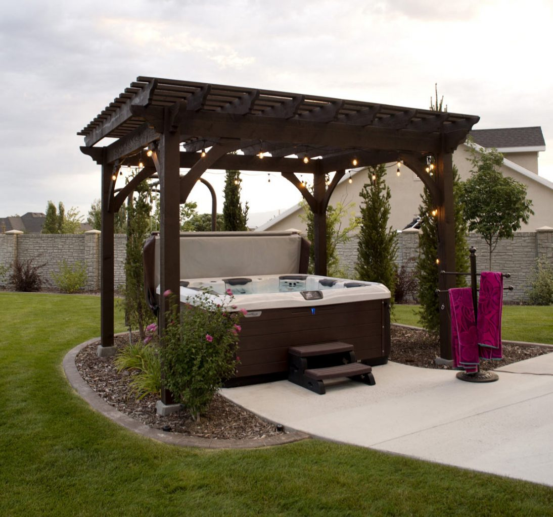 Heavenly Haven: DIY Hot Tub Pergola, Hammock Trellis | Western Timber Frame - Heavenly Haven: DIY Hot Tub Pergola, Hammock Trellis Western