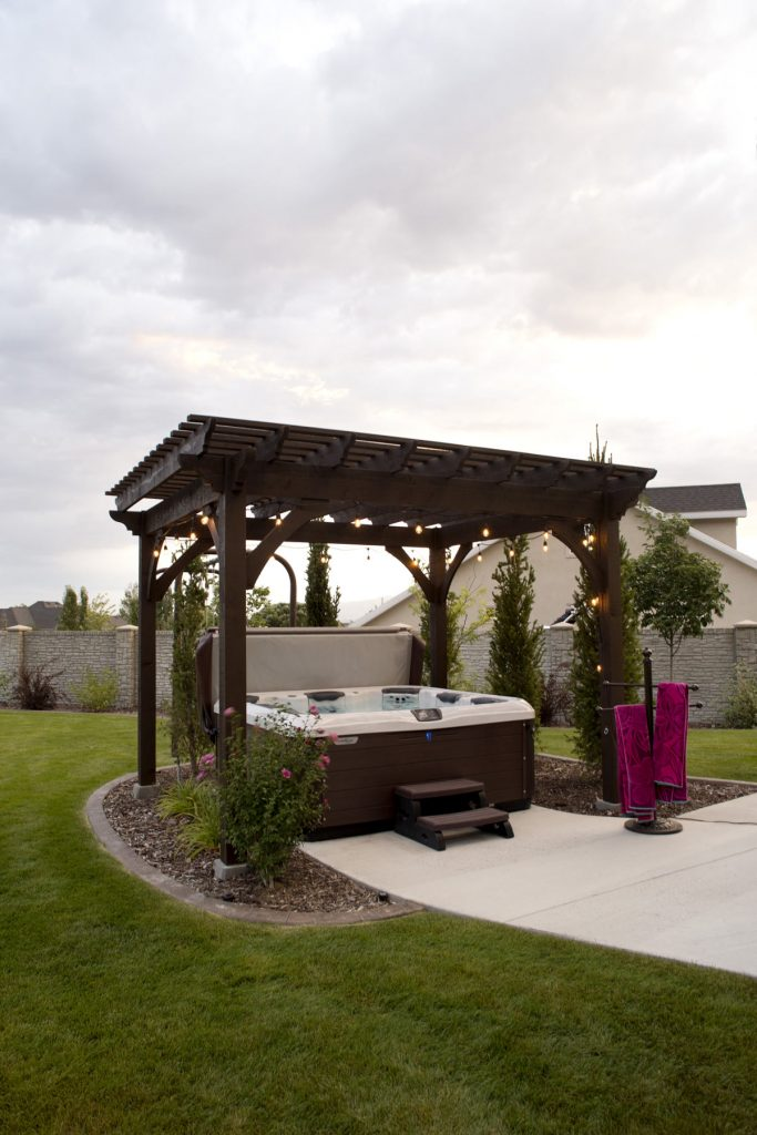 Heavenly Haven Diy Hot Tub Pergola Hammock Trellis