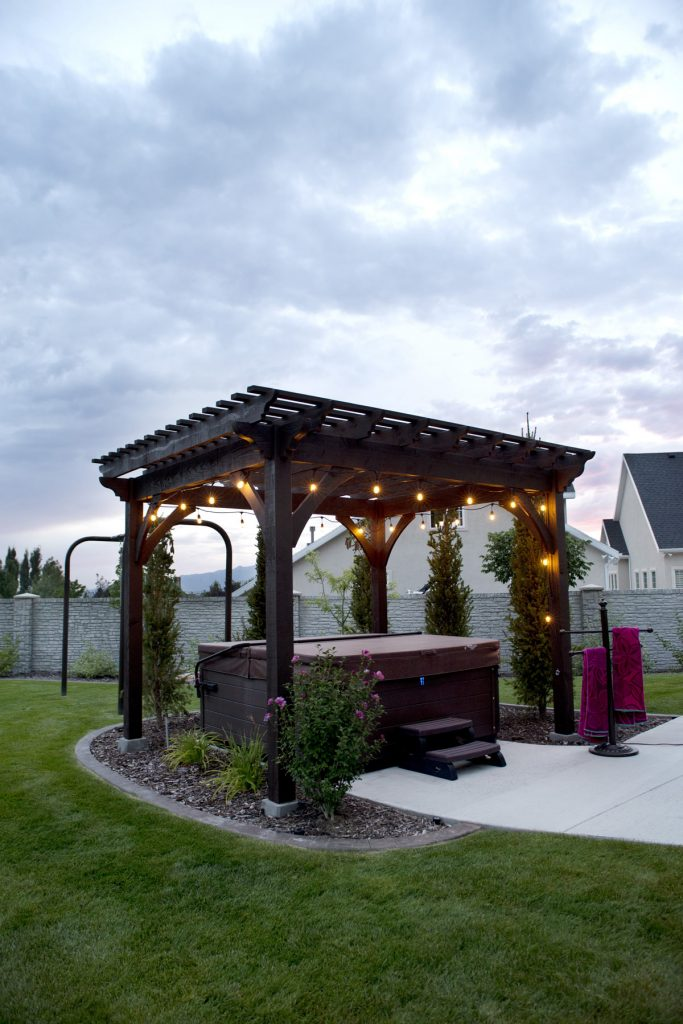 Heavenly Haven: DIY Hot Tub Pergola, Hammock Trellis - Heavenly Haven: DIY Hot Tub Pergola, Hammock Trellis Western