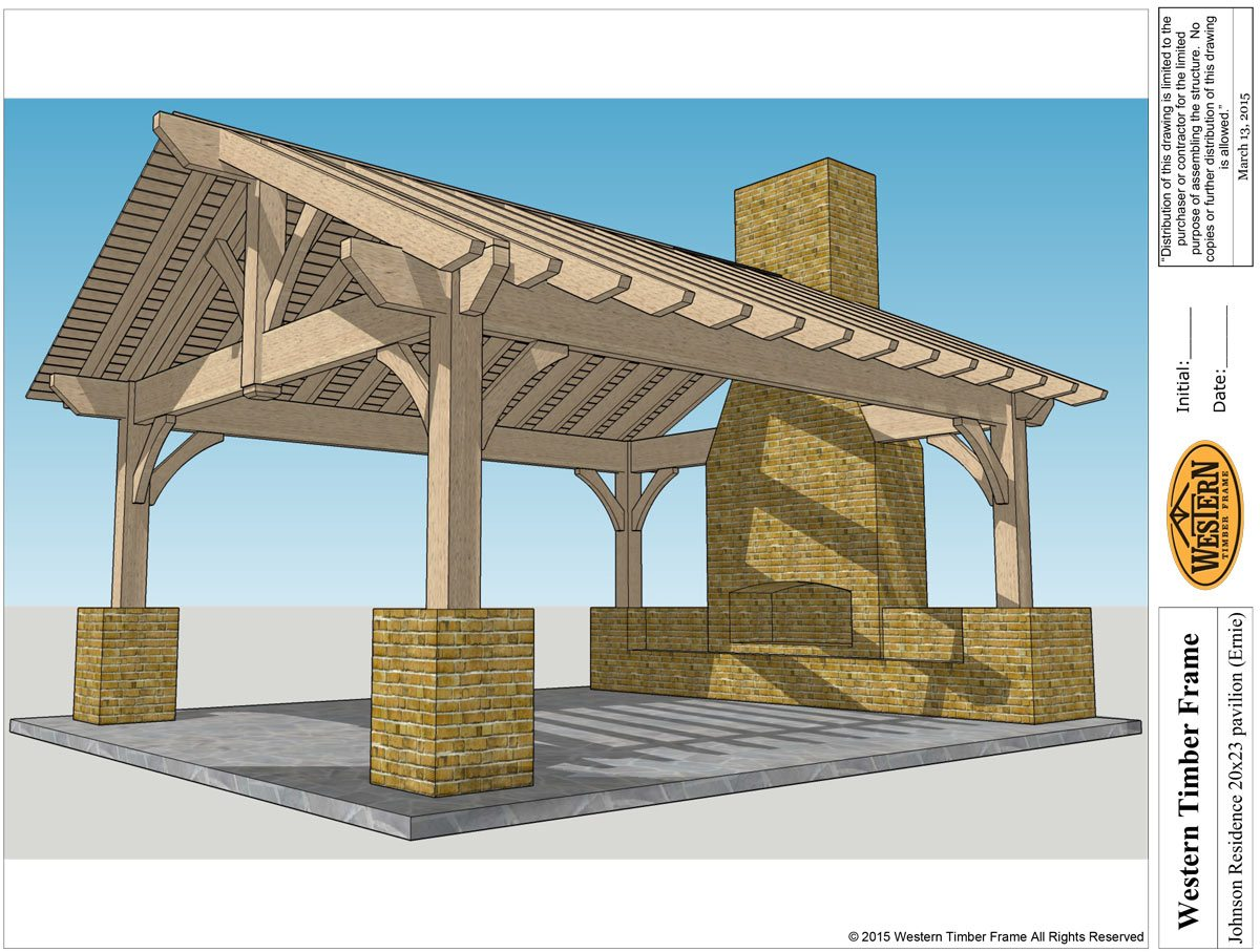 Add fire woutdoor fireplace diy pergola western timber frame pavilion with fireplace solutioingenieria Gallery