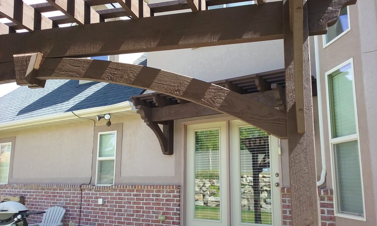 Diy timber frame awning pergola kit western timber frame for Diy timber frame plans
