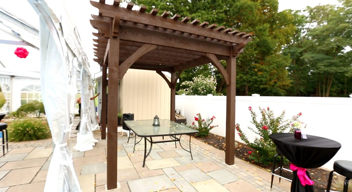 pergola for 16th birthday