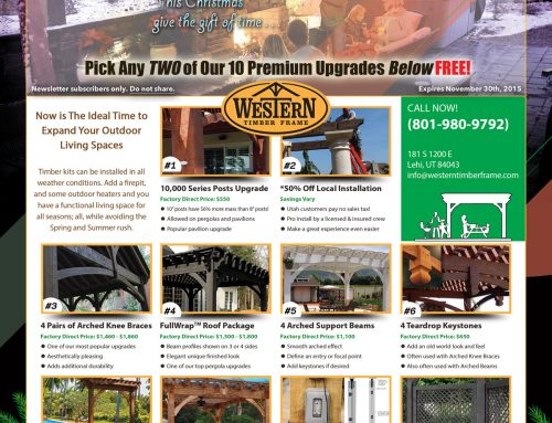 Western Timber Frame™ Black Friday Special 2015