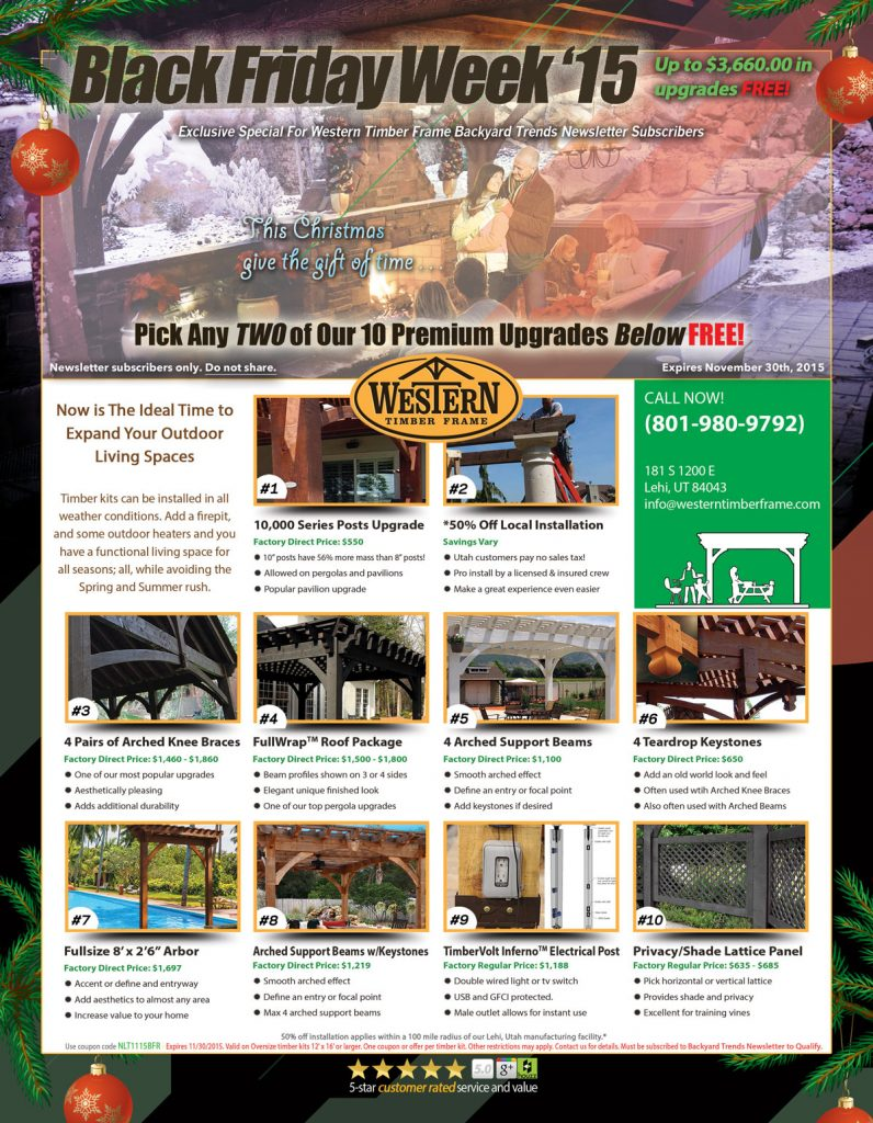 Western Timber Frame Black Friday Special