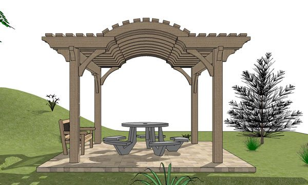 Barrel top pergola