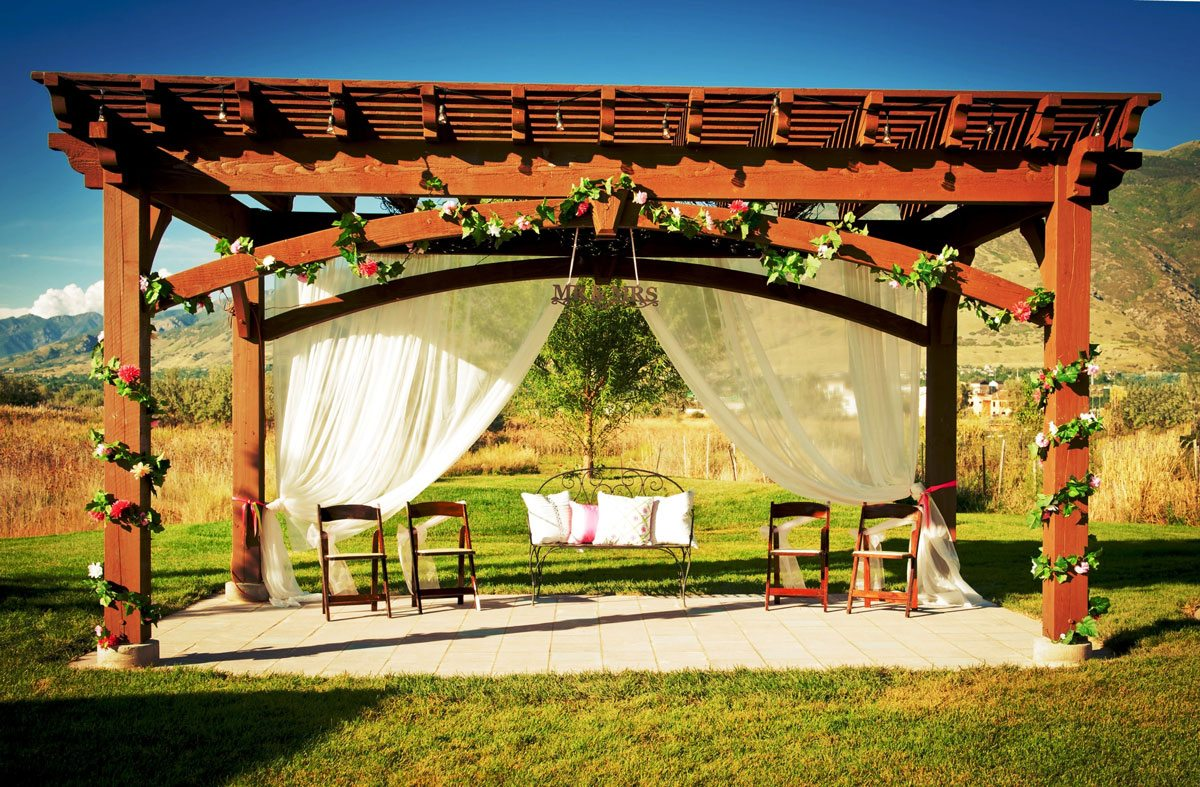 wedding reception pergola