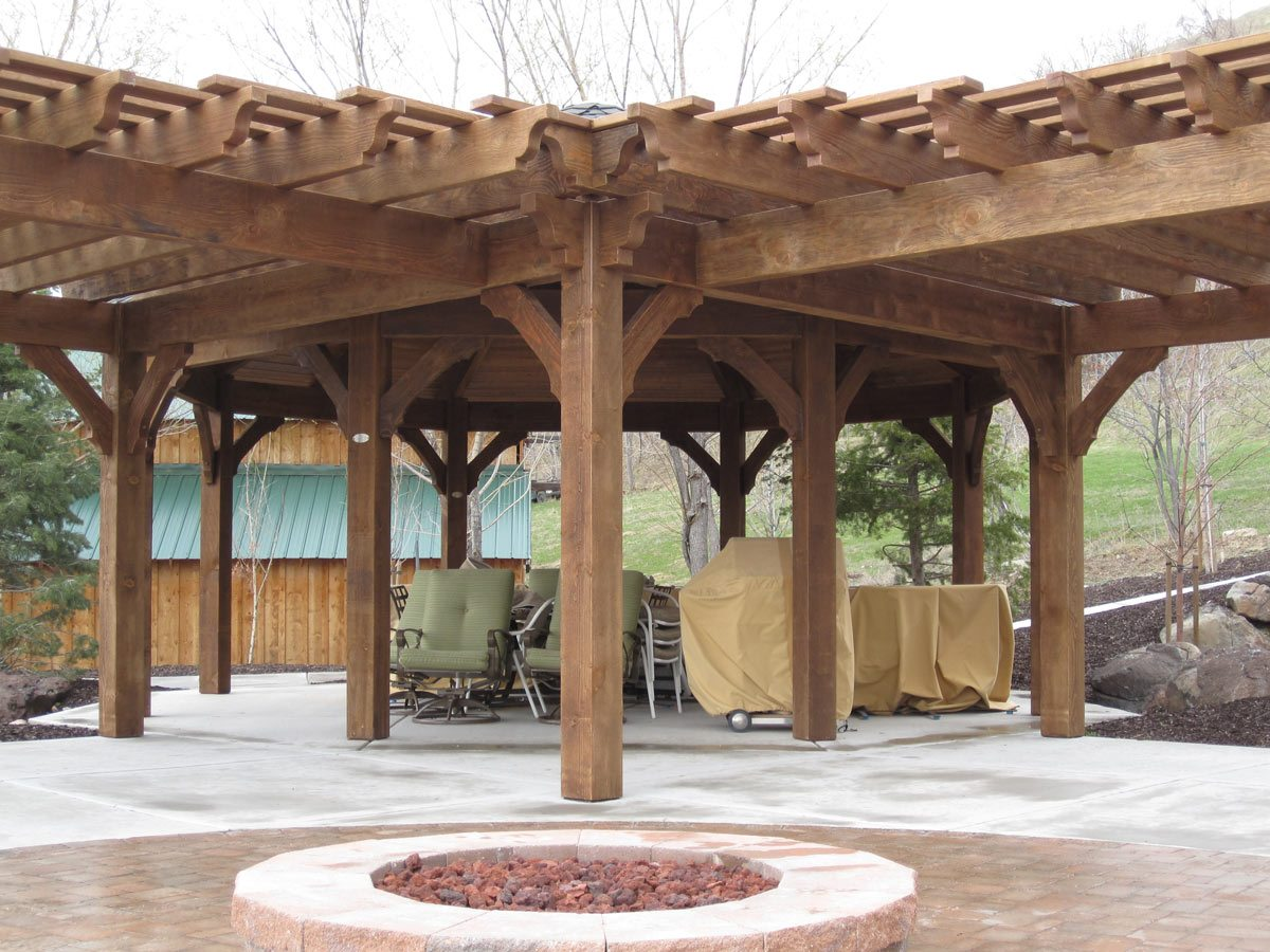 12 pergola roofing design ideas western timber frame. Black Bedroom Furniture Sets. Home Design Ideas