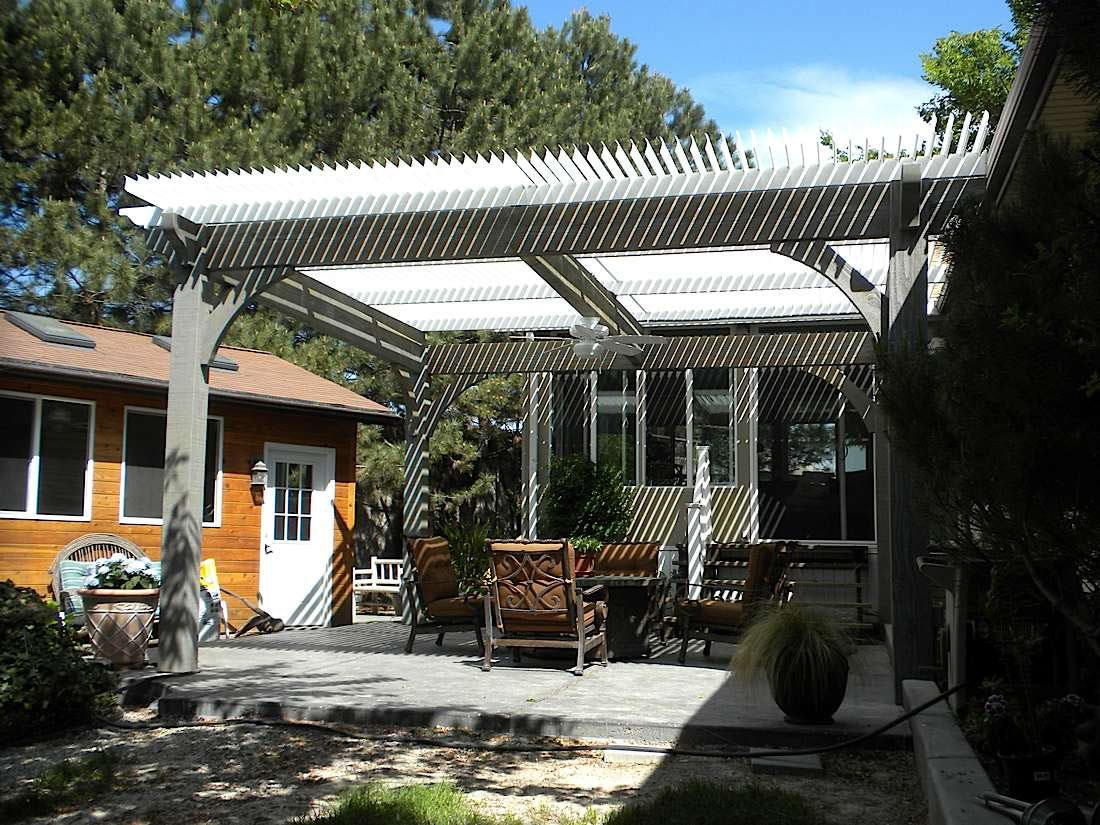 louvered-roof