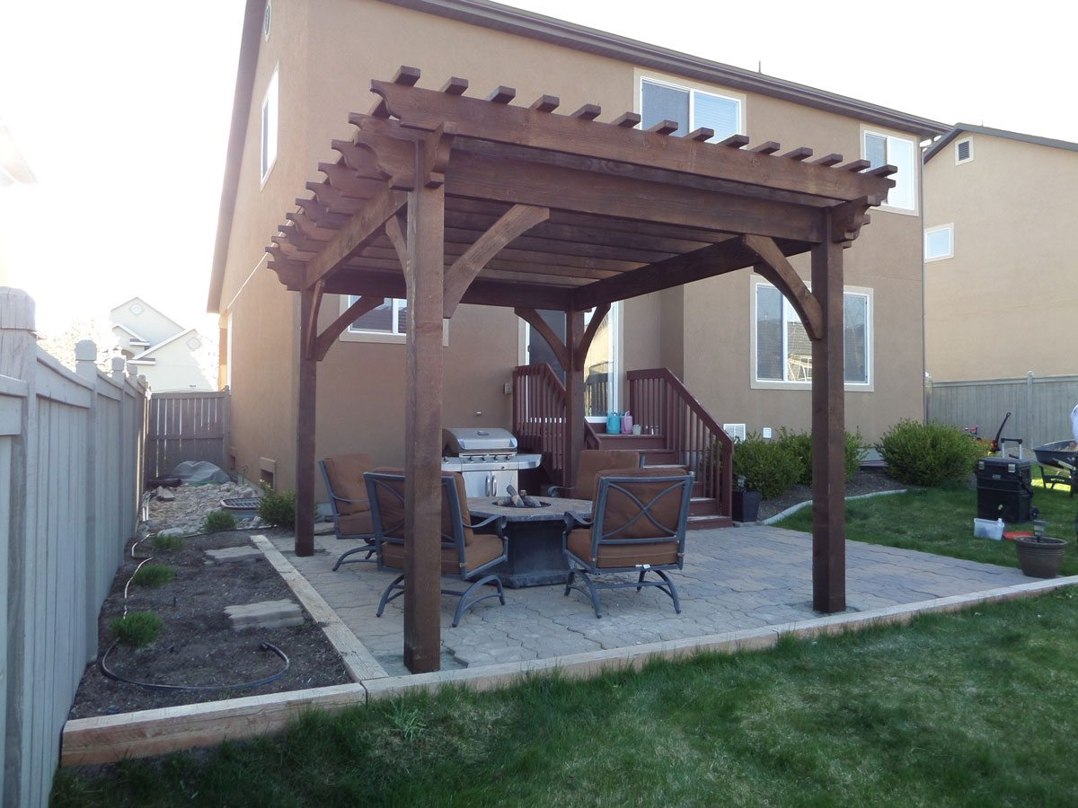 after pergola install for shade