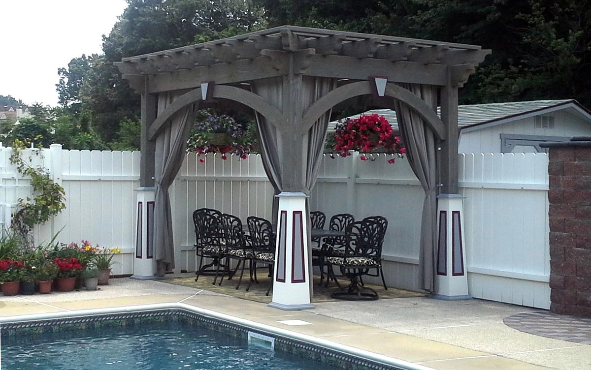 shade pool custom pergola