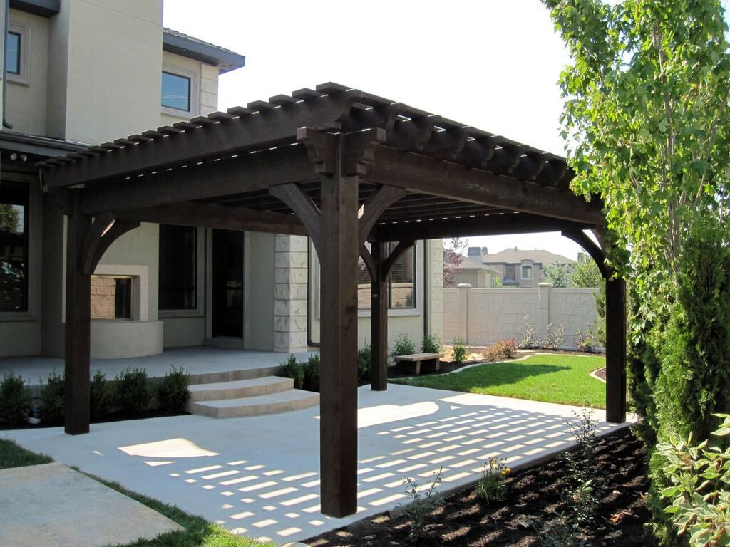 Plan For An Easy 16 x 20 DIY Solid Wood Pergola or Pavilion