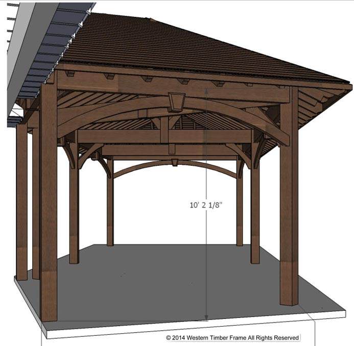 pavilion roof height