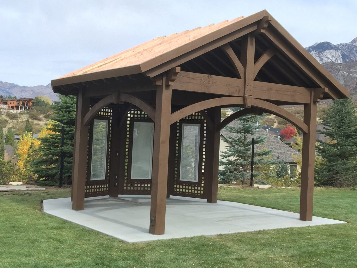 Home show inspiration install custom gazebo pavilion plan for Timber framing plans