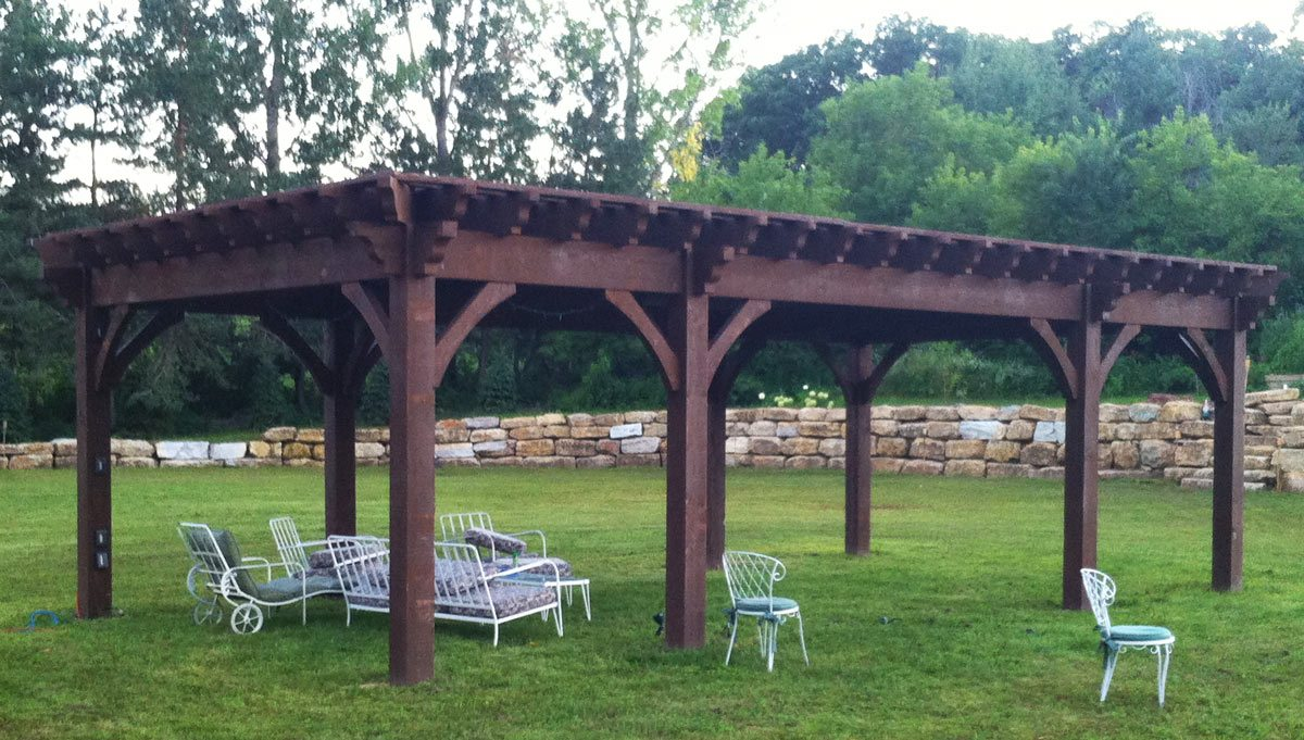 Plan For A 16 X 32 Oversize Timber Frame Diy Pergola Western