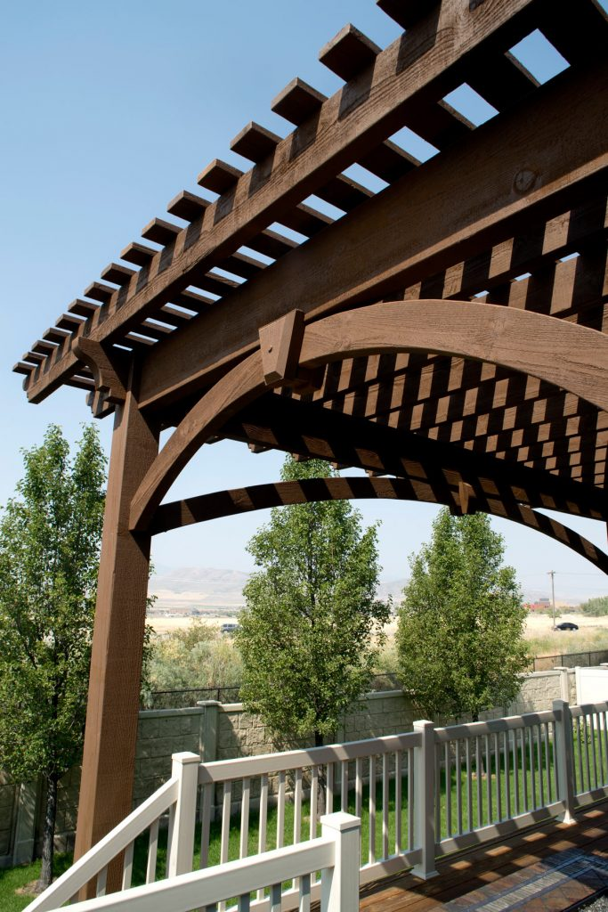 diy pergola kit arched knee braces