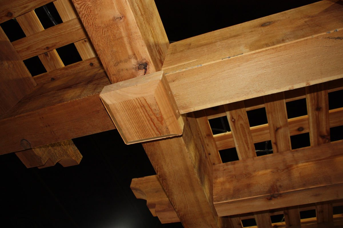 Decorative timber frame pergola