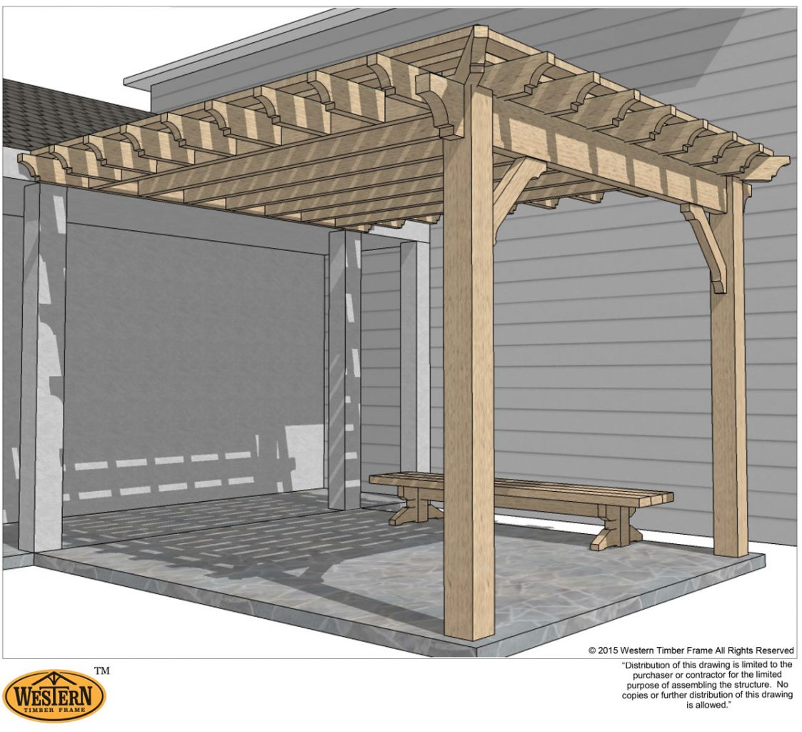 Attached Pergola. A DIY Patio ...
