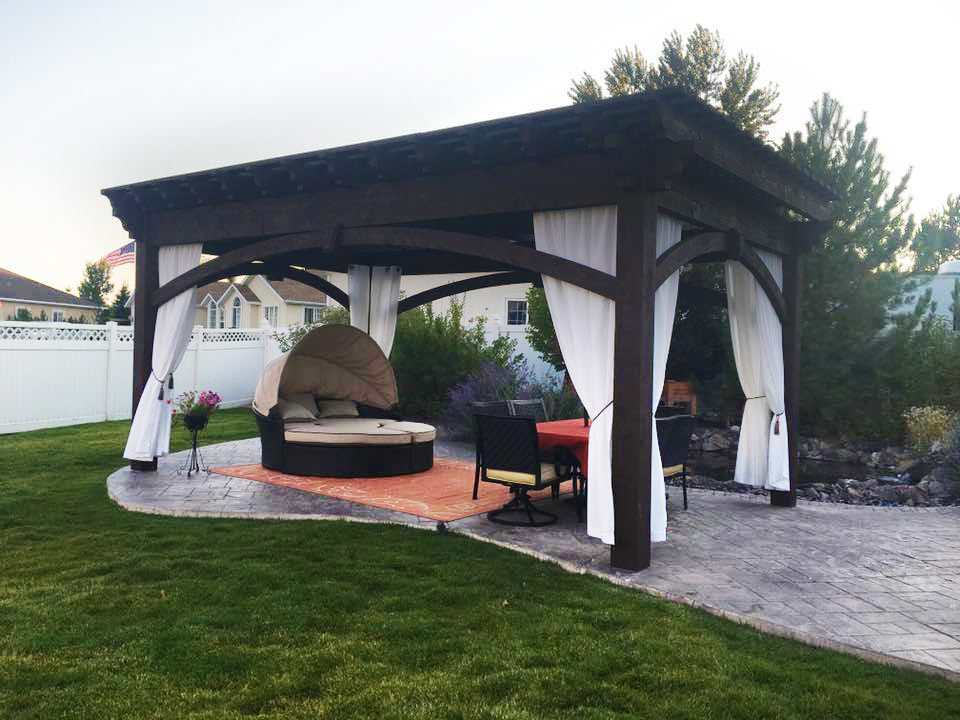 permeable paver patio pergola
