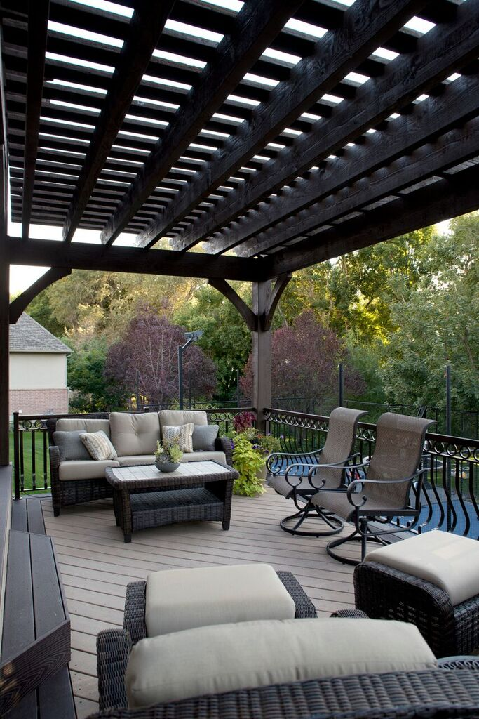 Timber Frame Tiered Pergolas Deck Ornamental Metal