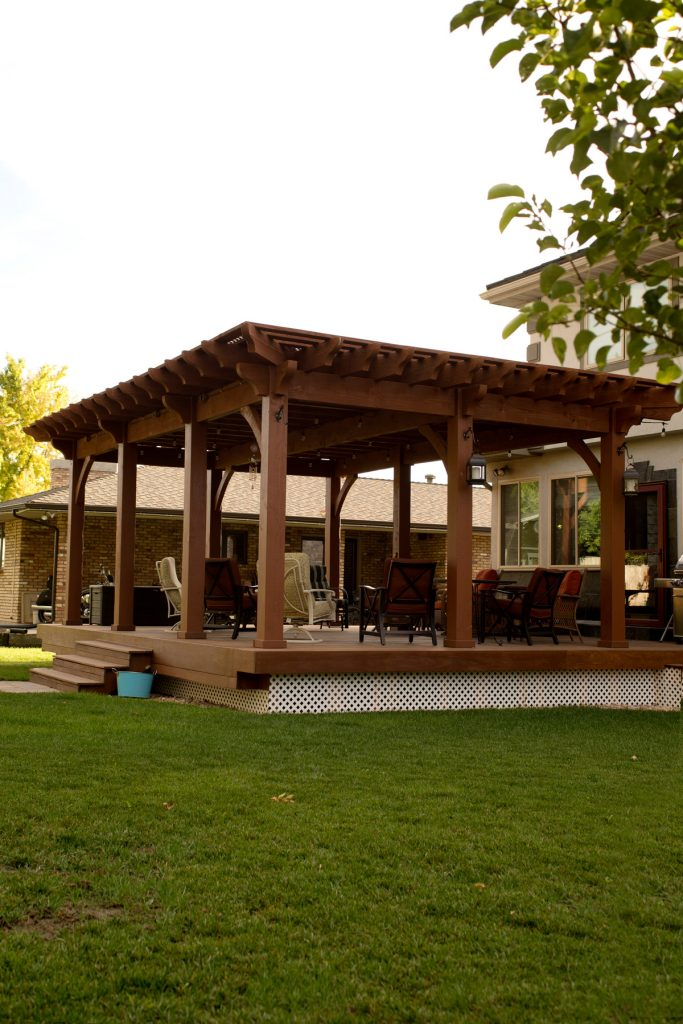 deck shade pergola furniture